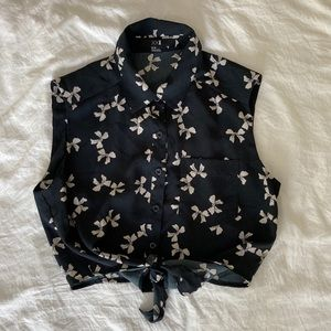 Forever 21 Bow Crop Top